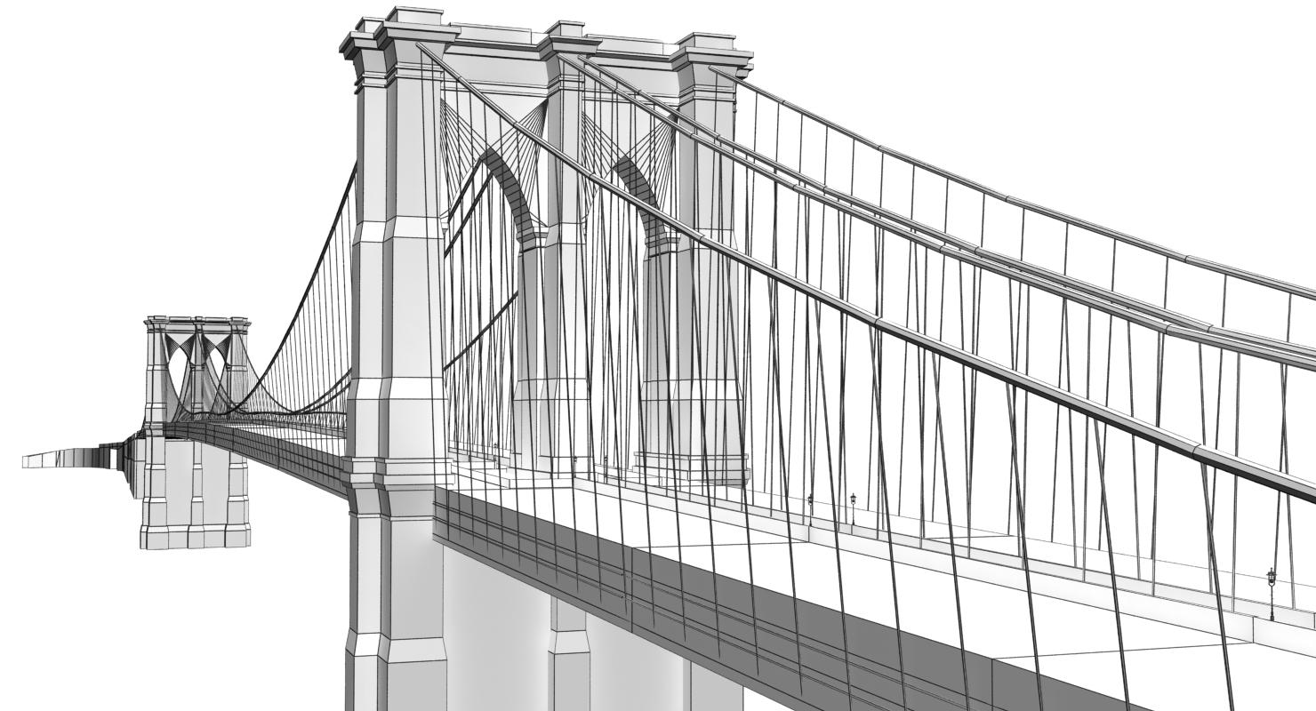 Brooklyn Bridge 3d model