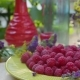 Shot of Fresh Raspberries on a Dish - VideoHive Item for Sale