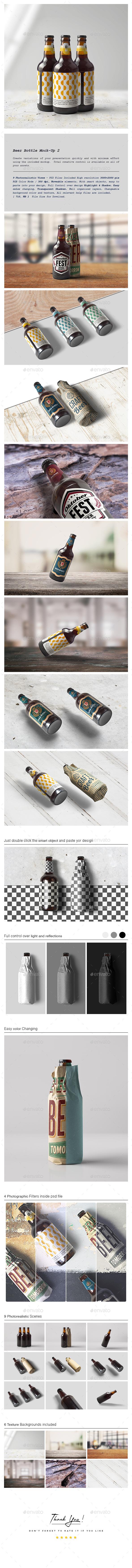 Beer Bottle Mock-Up 2 - Food and Drink Packaging