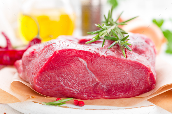 Raw beef meat tenderloin - Stock Photo - Images
