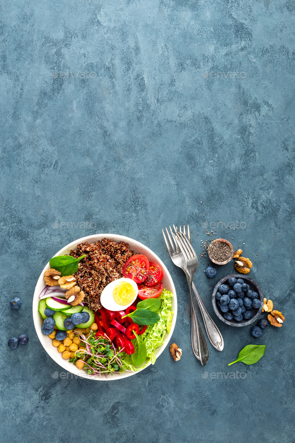 Buddha bowl dinner - Stock Photo - Images