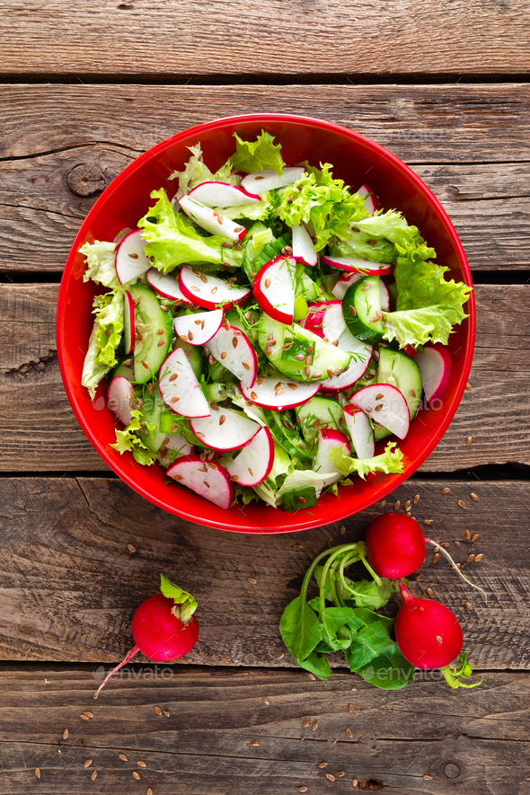 Vegetarian vegetable salad - Stock Photo - Images
