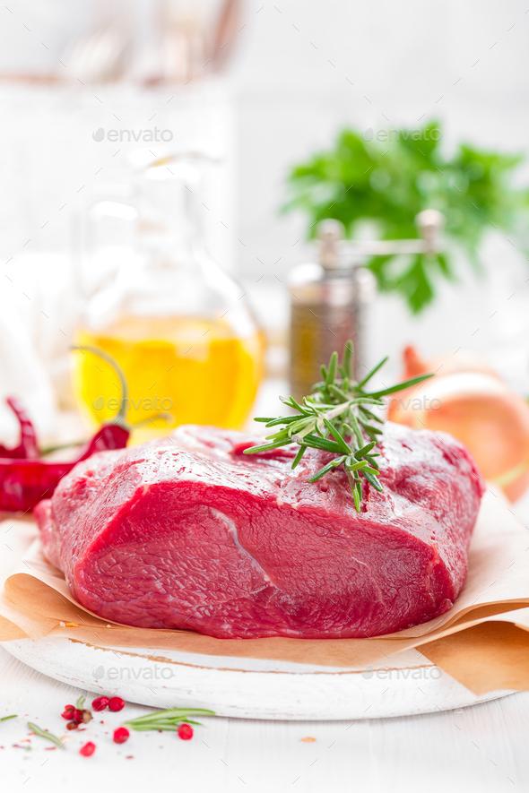 Raw beef meat tenderloin - Stock Photo - Images