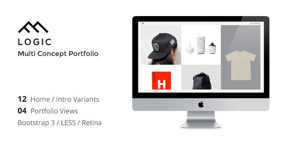 LOGIC - Minimal Multi-Concept Portfolio Joomla Template