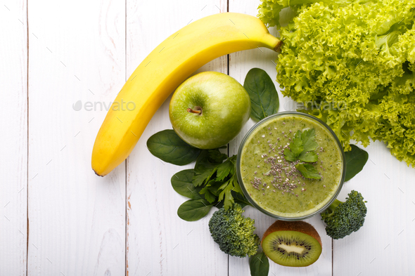 Green smoothie  - Stock Photo - Images