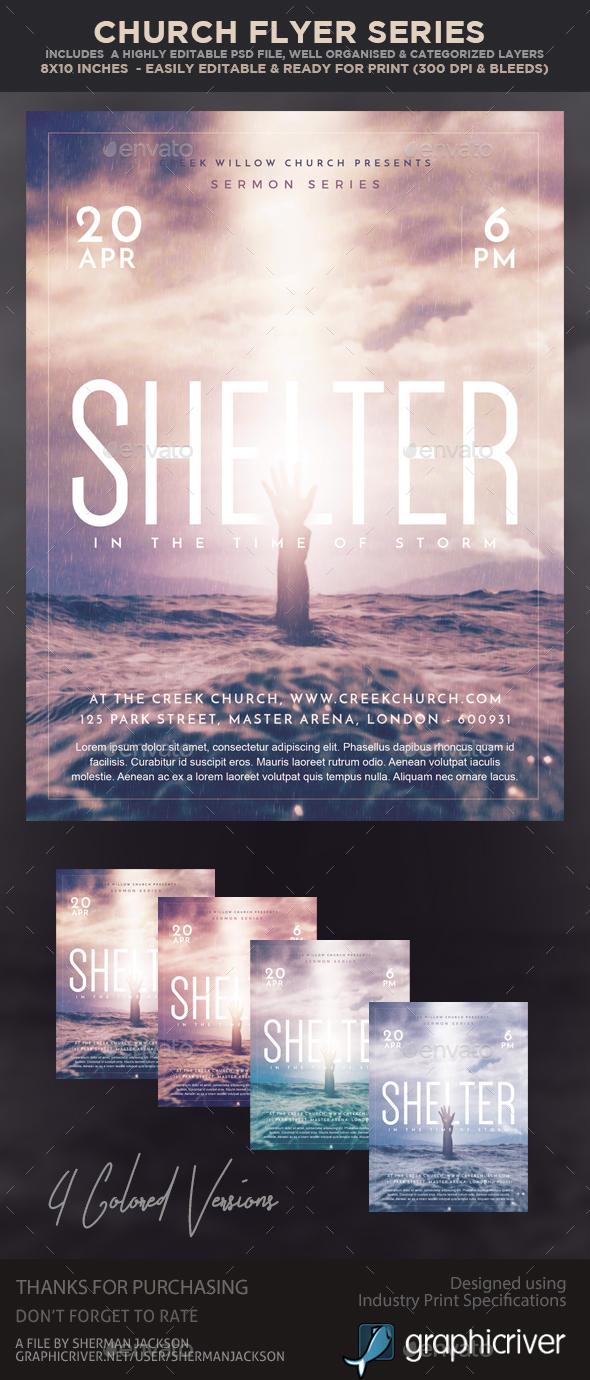 Church/Christian Themed Event Flyer - Shelter - Church Flyers