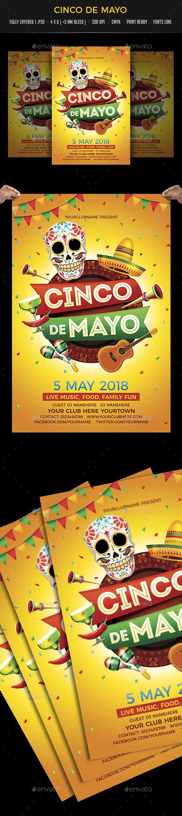 Cinco De Mayo - Events Flyers
