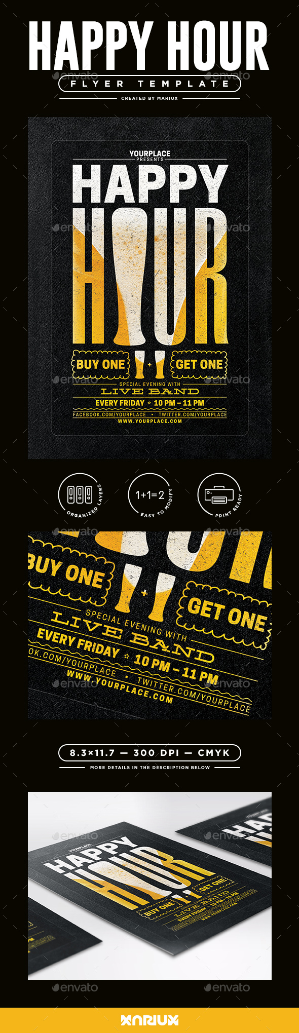Happy Hour Flyer/Poster - Events Flyers