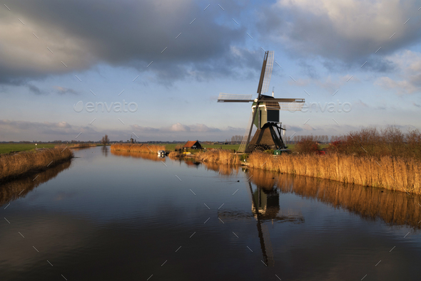 The Achterlandse windmill - Stock Photo - Images