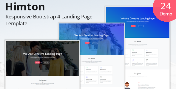Image of Himton - Responsive Bootstrap 4 Landing Page Template