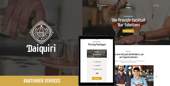 Image of Daiquiri | Bartender Services & Catering WordPress Theme