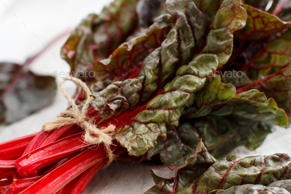 Fresh red chard - Stock Photo - Images