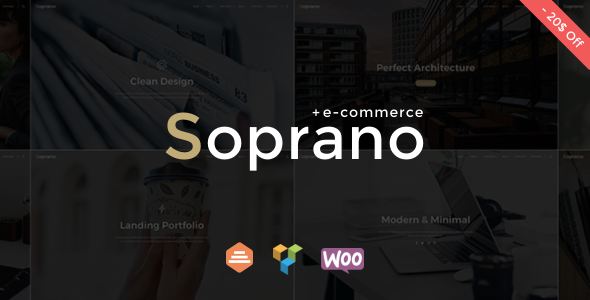 Soprano - Minimalistic Multi-Purpose WordPress Theme - Creative WordPress