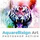 Aquarellixign Art | PS Action - GraphicRiver Item for Sale