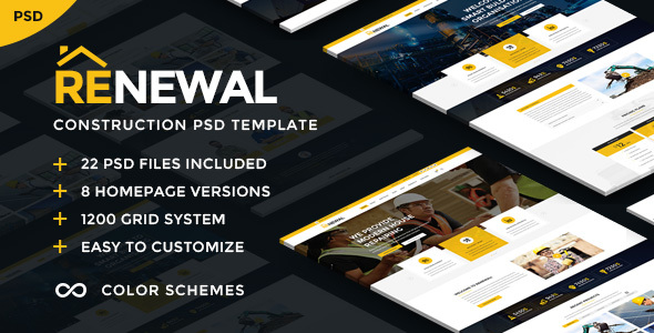 Renewal | Construction & Industrial PSD Template
