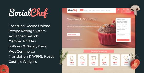 Image of SocialChef - Social Recipe WordPress Theme