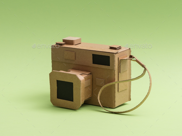 Creative cardboard camera - Stock Photo - Images