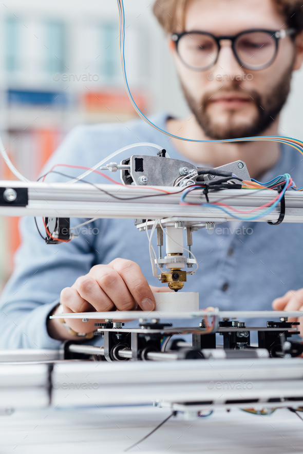 Engineering and 3D printing - Stock Photo - Images
