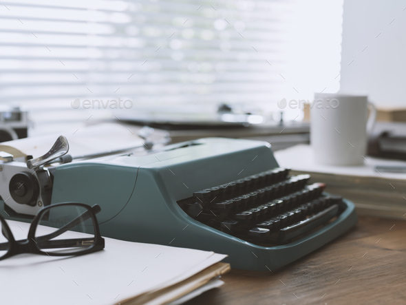 Vintage writer's desk - Stock Photo - Images