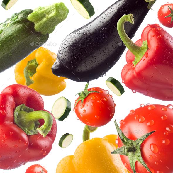 Fresh vegetables background - Stock Photo - Images