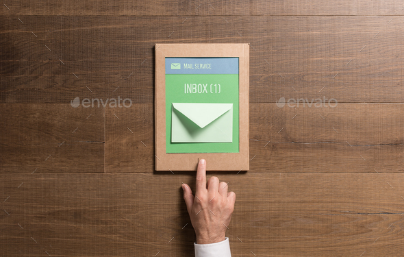 Eco-friendly cardboard tablet - Stock Photo - Images