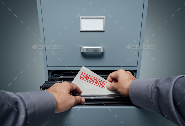 Confidential information and privacy - Stock Photo - Images