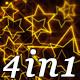Golden Stars - VJ Loop Pack (4in1) - VideoHive Item for Sale