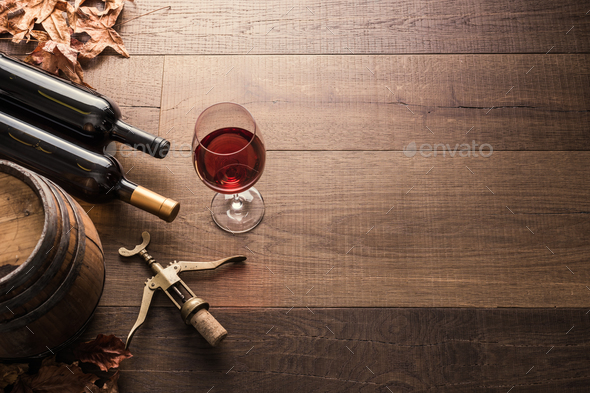 Tasting excellent red wine - Stock Photo - Images