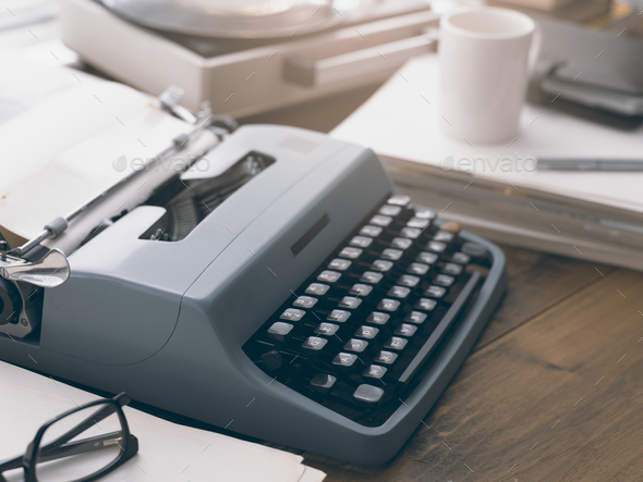 Vintage writer's desk - Stock Photo - Images