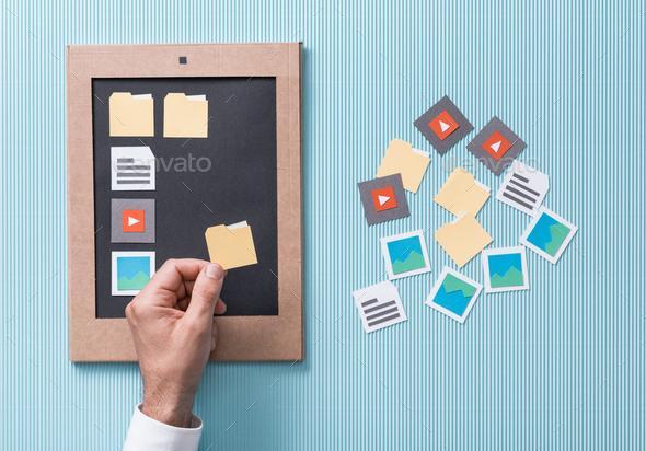 Files selection and management - Stock Photo - Images