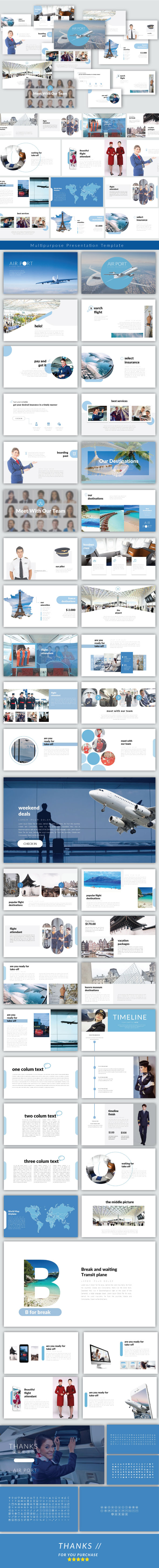 Airport - Googleslide Templates - Google Slides Presentation Templates
