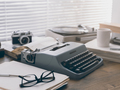 Writer and journalist vintage desktop with typewriter - PhotoDune Item for Sale