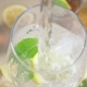 Water Is Poured Into a Glass of Ice and Mint - VideoHive Item for Sale