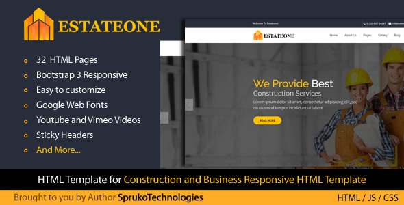 Estateone - Real Estate business or Real Estate Marketing Multipurpose Template - Business Corporate