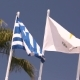 Flags of the European Union, Greece, Cyprus, the City of Aya Napa, Greece, Flags on the Flagpole - VideoHive Item for Sale