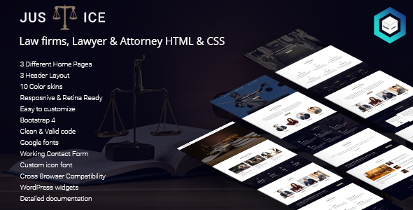 Image of Justice - Law firms, Lawyer & Attorney HTML5 & CSS3 Template