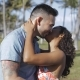 Amorous Kissing Couple in Bright Sunshine - VideoHive Item for Sale