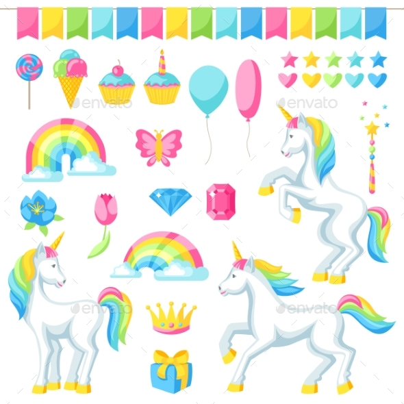 Collection of Unicorns and Fantasy Decorative - Birthdays Seasons/Holidays
