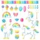 Collection of Unicorns and Fantasy Decorative - GraphicRiver Item for Sale