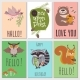 Once Upon Forest Cards Collection. - GraphicRiver Item for Sale