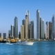 Beautiful View of Dubai Marina Skyscrapers, Sunset Time, View From Palm Jumeirah, , Dubai, United - VideoHive Item for Sale