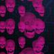 Digital Cyber Hacking Blue Skeleton Heads - VideoHive Item for Sale