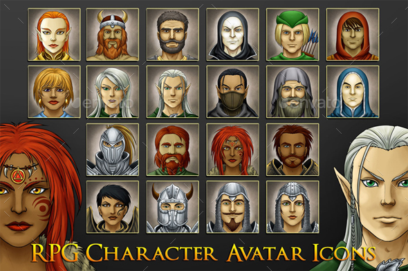 RPG Game Avatars - Miscellaneous Game Assets