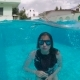 Woman with Long Hair Dives Into the Pool - VideoHive Item for Sale