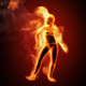 Fire Girl Dance - VideoHive Item for Sale