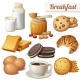 Breakfast 3. Set of Cartoon Vector Food Icons - GraphicRiver Item for Sale