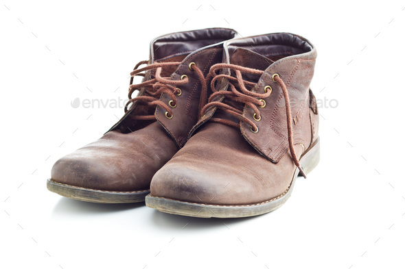 The leather boots. - Stock Photo - Images