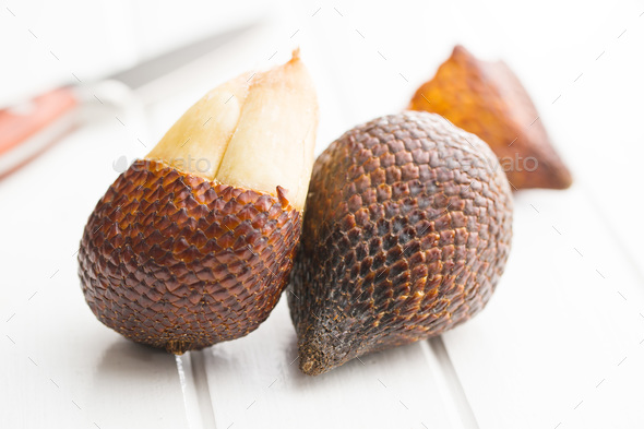 Salak fruit, Salacca zalacca, snake fruit. - Stock Photo - Images