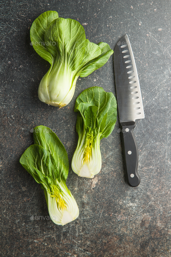 Fresh pak choi cabbage. - Stock Photo - Images