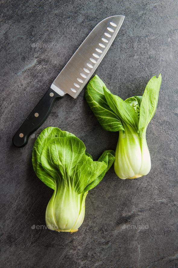Fresh pak choi cabbage - Stock Photo - Images